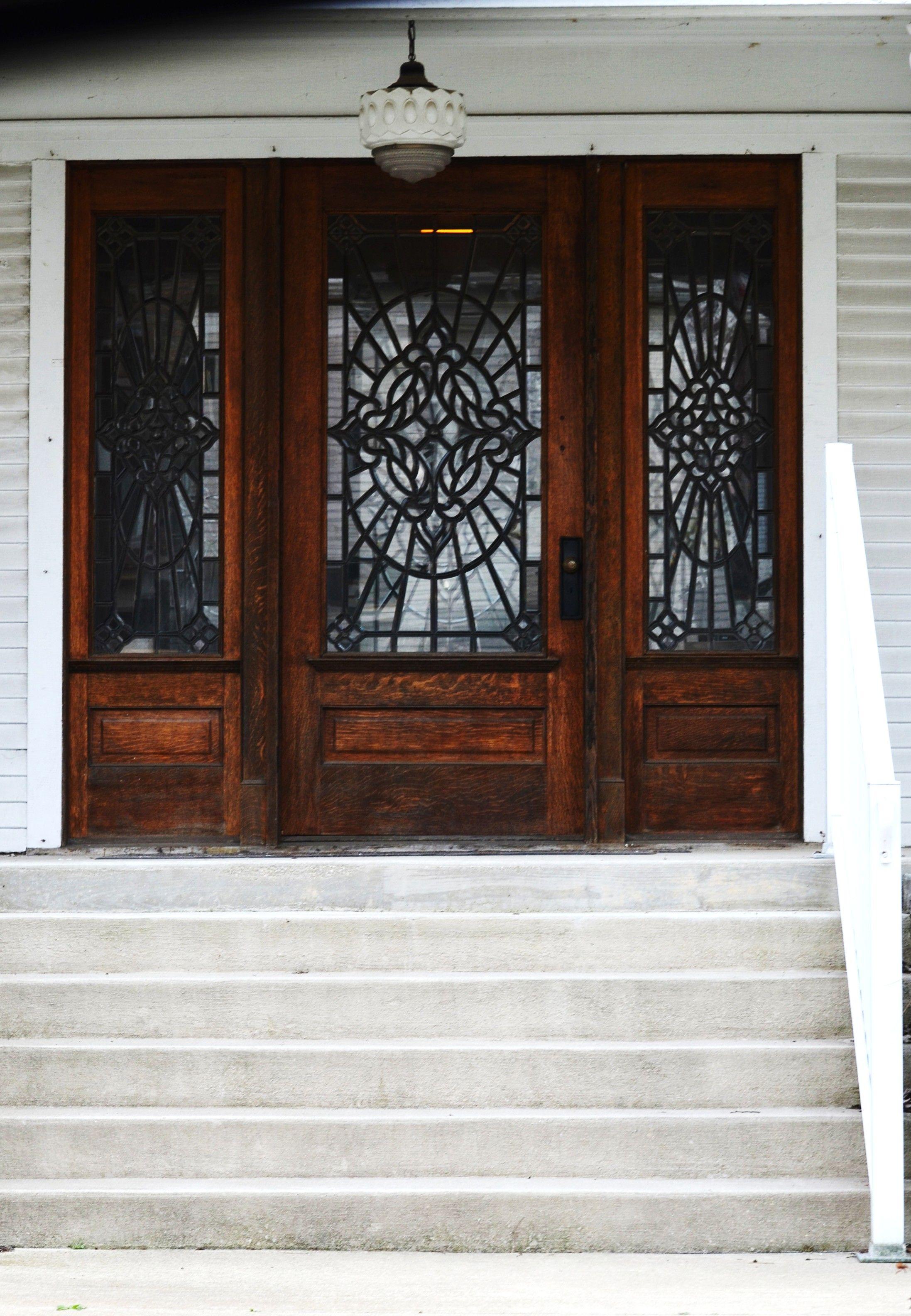 Wood Glass Home Doors Kokomo Indiana Stained Front Door Wood Glass
