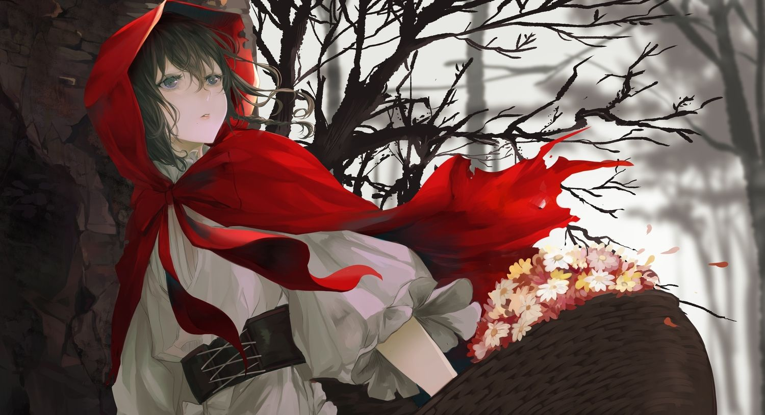 Pin By Howlermk On Girls 3 Red Riding Hood Art Anime Backgrounds Wallpapers Thanksgiving Wallpaper