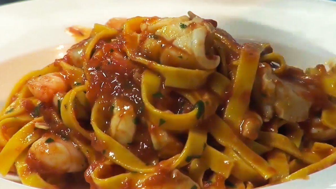 Seafood Tagliatelle Recipe | Theo Randall - ***The written recipe is at  http://www ...