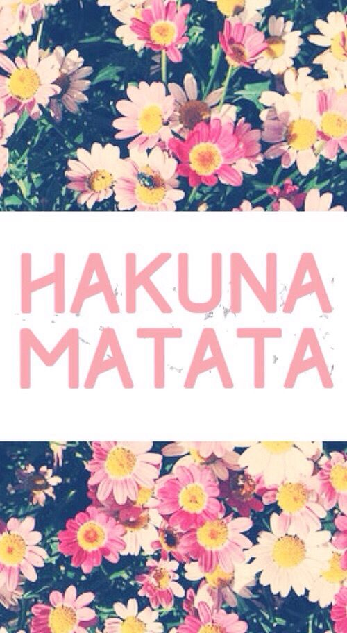 Hakuna Matata Means No Worries For The Rest Of Your Days Iphone Wallpaper Hipster Hakuna Matata Iphone Wallpaper