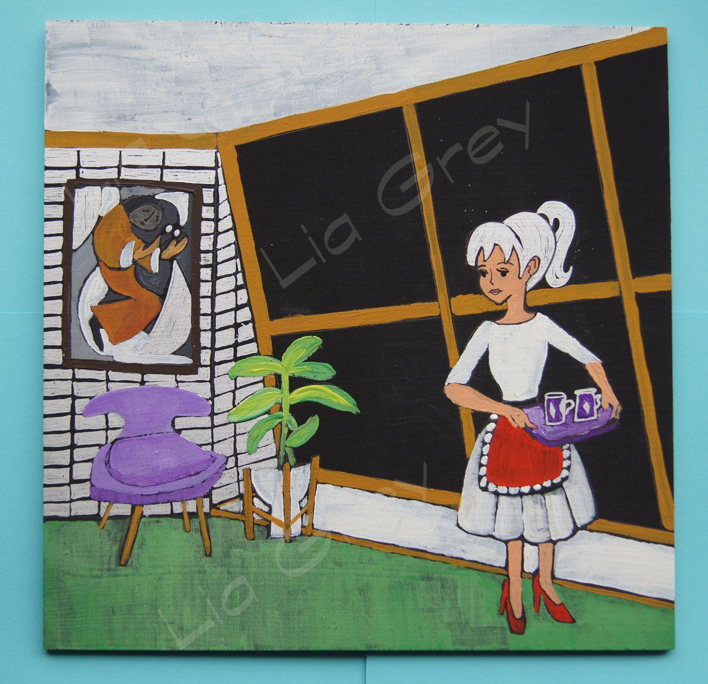 Melody Original Painting Gouache on Birchwood Panel by liagreyart on Etsy