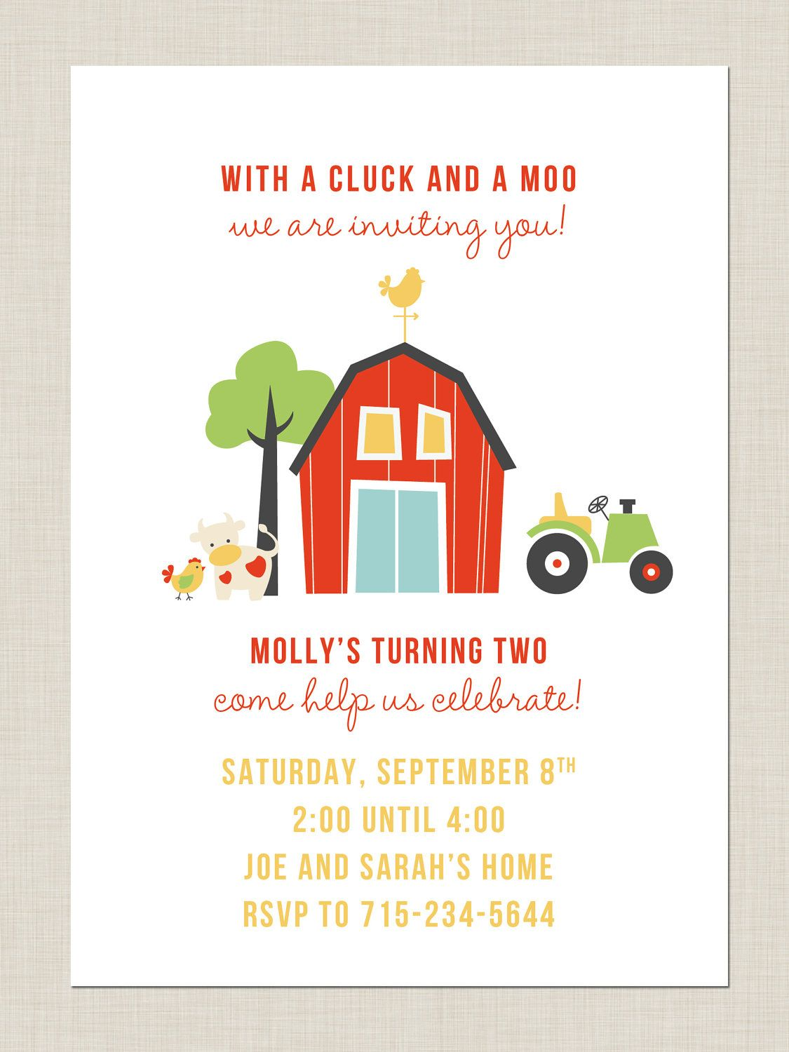 Barnyard Birthday Invitations Barnyard Party Birthday