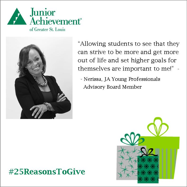 Reason #2: Meet #JA #volunteer and Young Professional Board Member, Nerissa!  #25ReasonstoGive