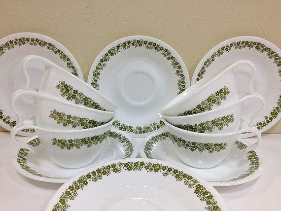 Corelle dishes & Maybe this is why I love little flowers so much. My family had this ...