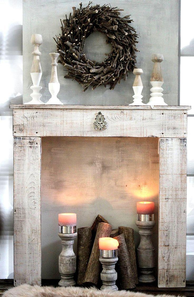 Photo of Kaminkonsole für Weihnachten selber bauen – Deko & Feiern, Innendesign – ZENIDEEN
