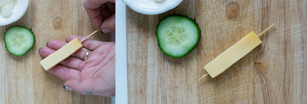 Hartig hapje voor Kerst met kaas en komkommer – ElsaRblog