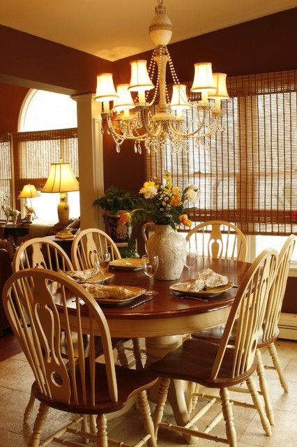 Yellow Black White Dining Room Color With Red Seat