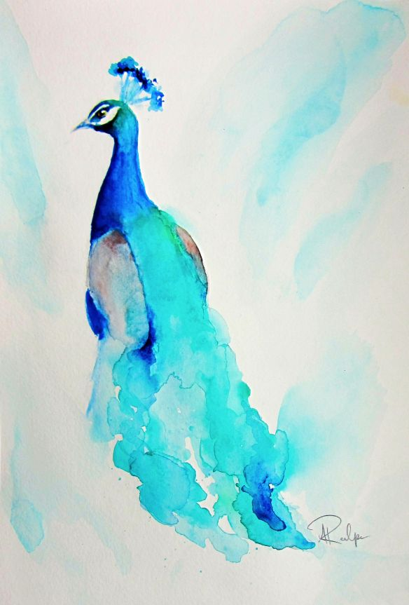 Peacock Watercolor Painting Watercolor Paintings For Beginners