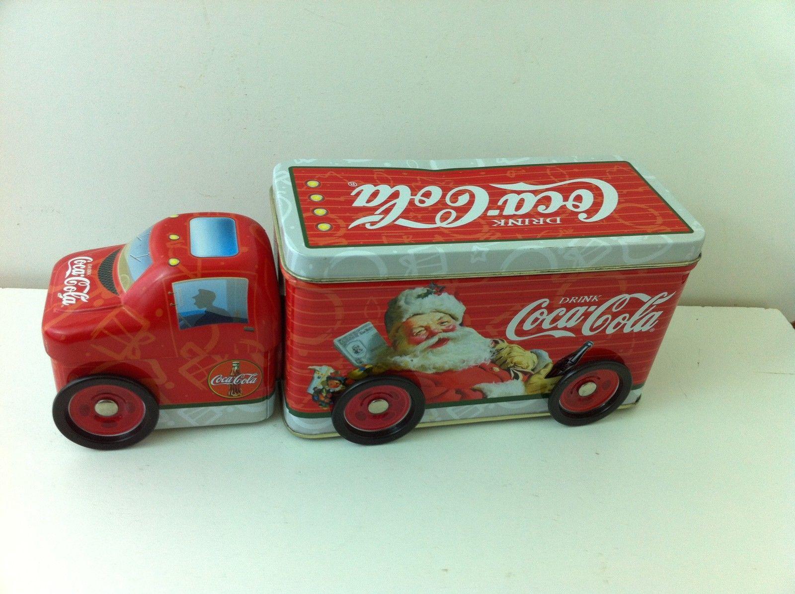 2003 Coke Coca Cola Tin Christmas Santa Claus Semi Truck Toy with Wheels Mint   eBay