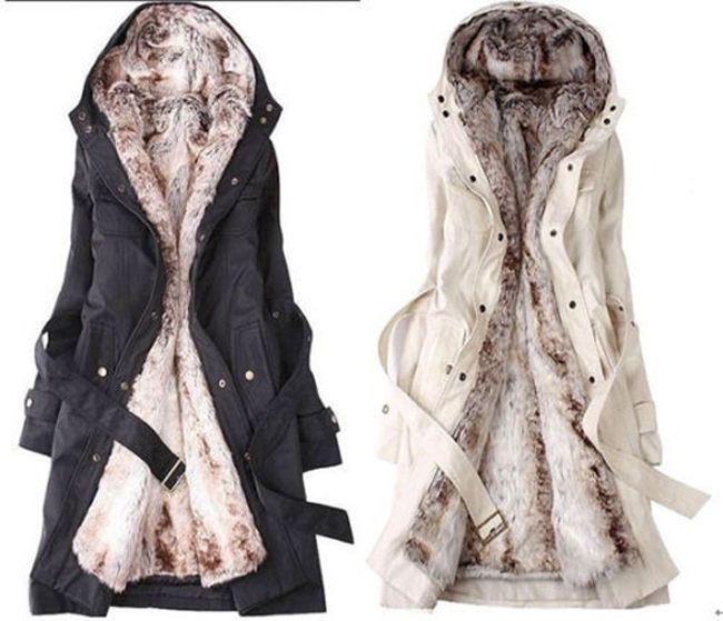 Cool Fashion Womens Thicken Warm Winter Coat Hood Parka Overcoat ...