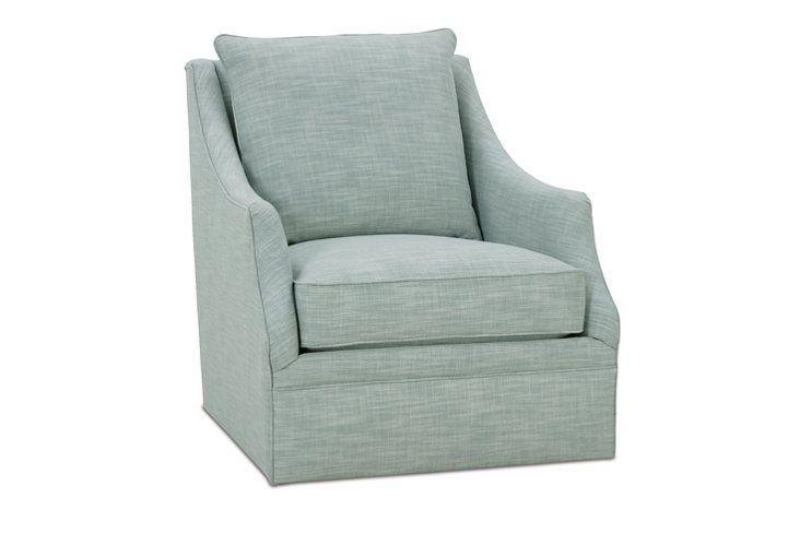 Kara Swivel Chair Ice Blue I Love The Texture Casual But