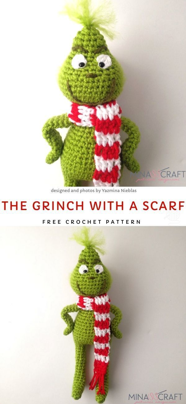 The Grinch With A Scarf Free Crochet Pattern