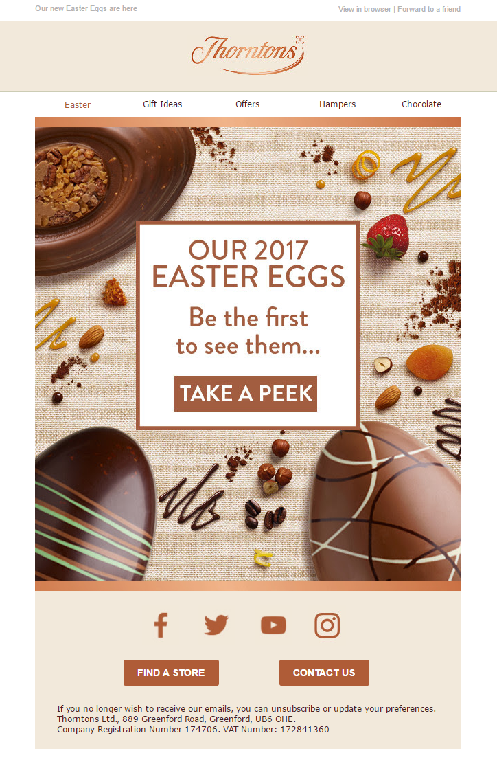 Easter sneak peek email from thorntons emailmarketing email easter sneak peek email from thorntons emailmarketing email marketing chocolate easter negle Images