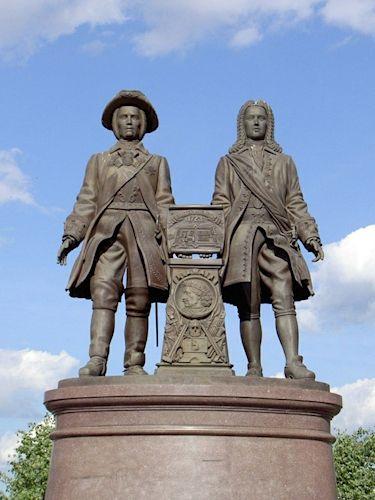 Памятник татищеву и де геннину в екатеринбурге лучшие гранитные памятники челябинск