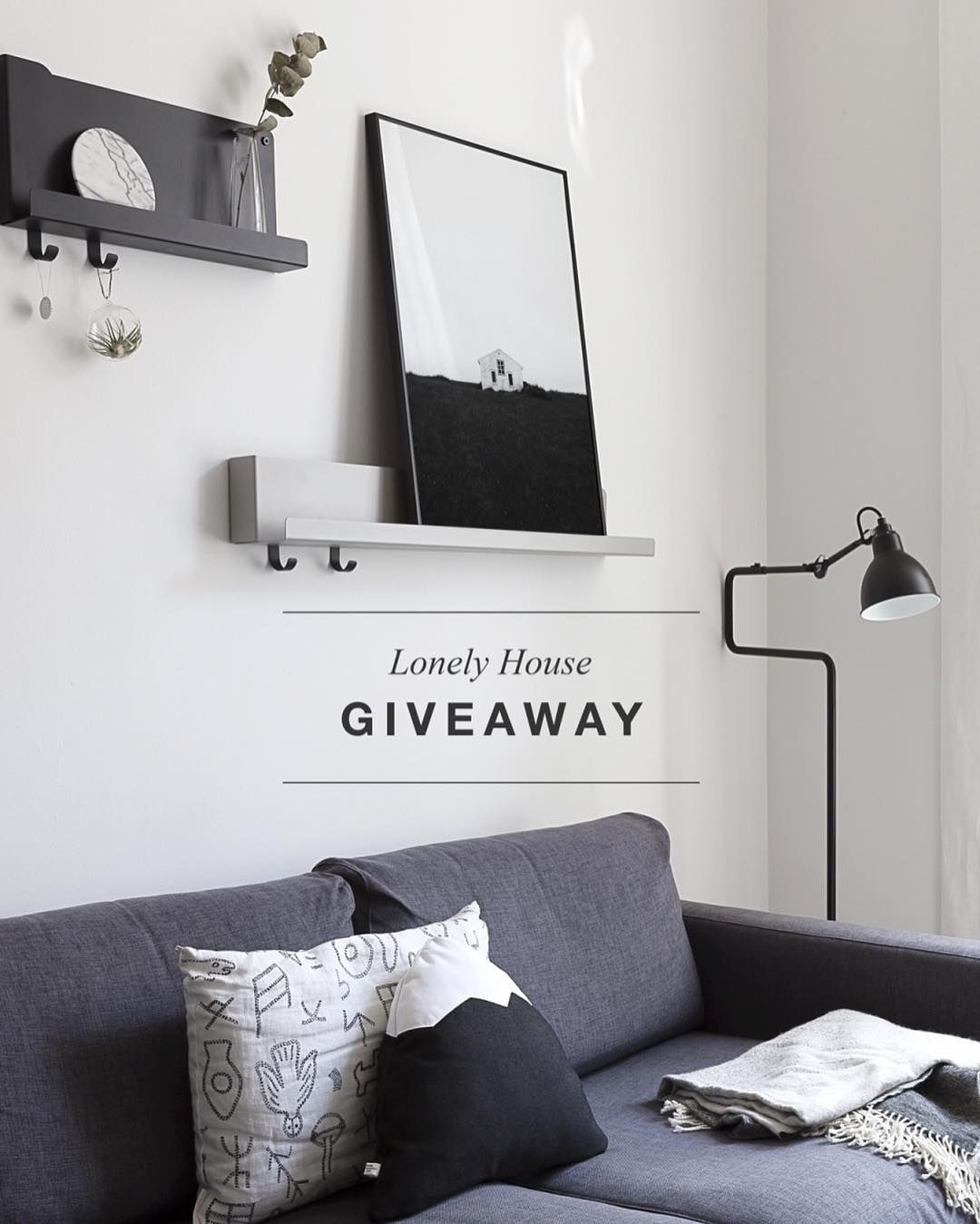 Time for another giveaway - this week you can win a 'Lonely House' print for you and your friend ! All you have to do is comment on this picture and tag a friend you would like to win with you. Winners will be announced coming Sunday good luck ! #cocolapine #giveaway