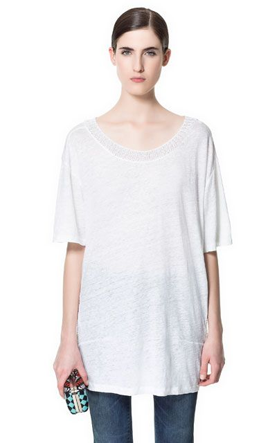 SWEATER WITH ELBOW LENGTH SLEEVES - T-shirts - Woman - ZARA Canada