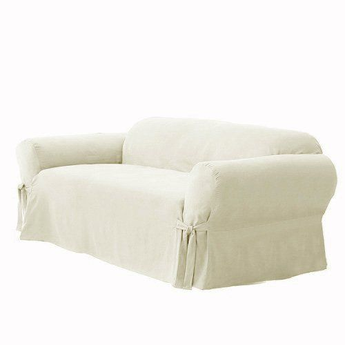 Good Soft Micro Suede Solid Off White Eggshell Ivory Couch/sofa Cover Slipcover  Grand Linen Http
