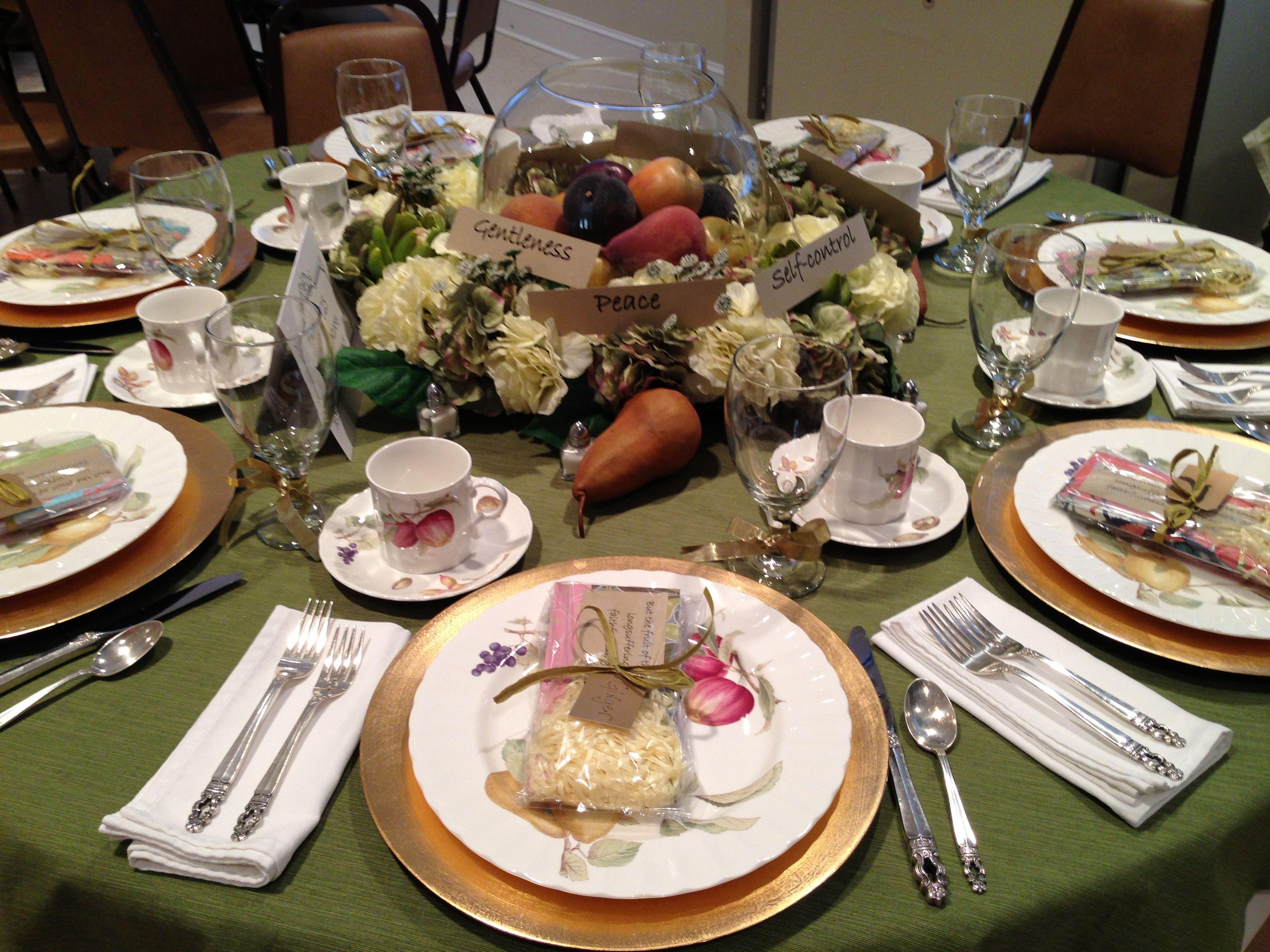 Fruit Of The Spirit Church Tea Table Theme Lovely Table Ideas