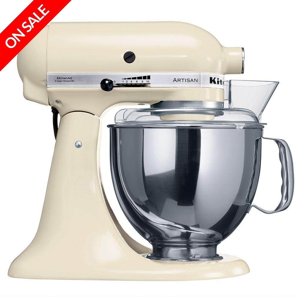 Kitchenaid artisan ksm150 almond cream mixer