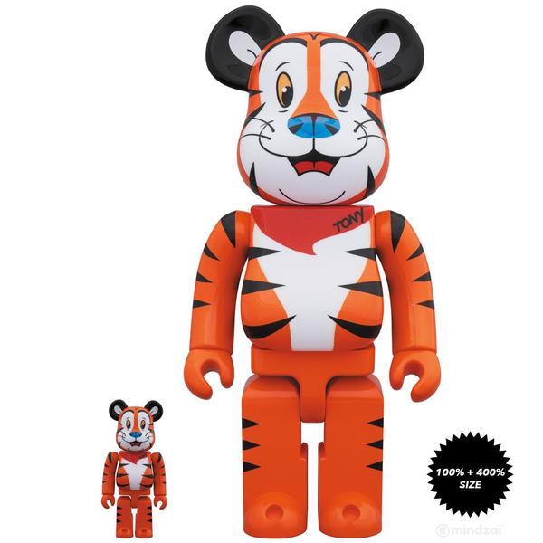 Tony The Tiger 100 And 400 Bearbrick Set By Kelloggs X Medicom Toy Toy Collection Tony Kelloggs