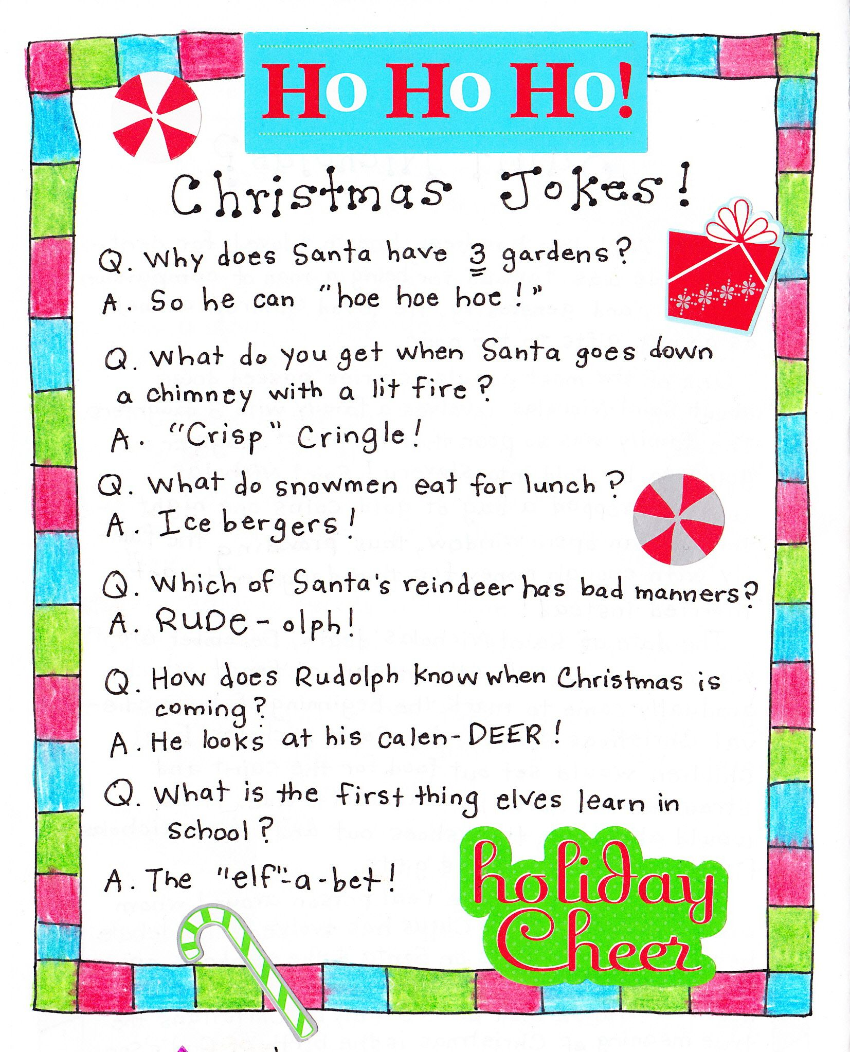 christmas jokes for the kids - Childrens Christmas Jokes