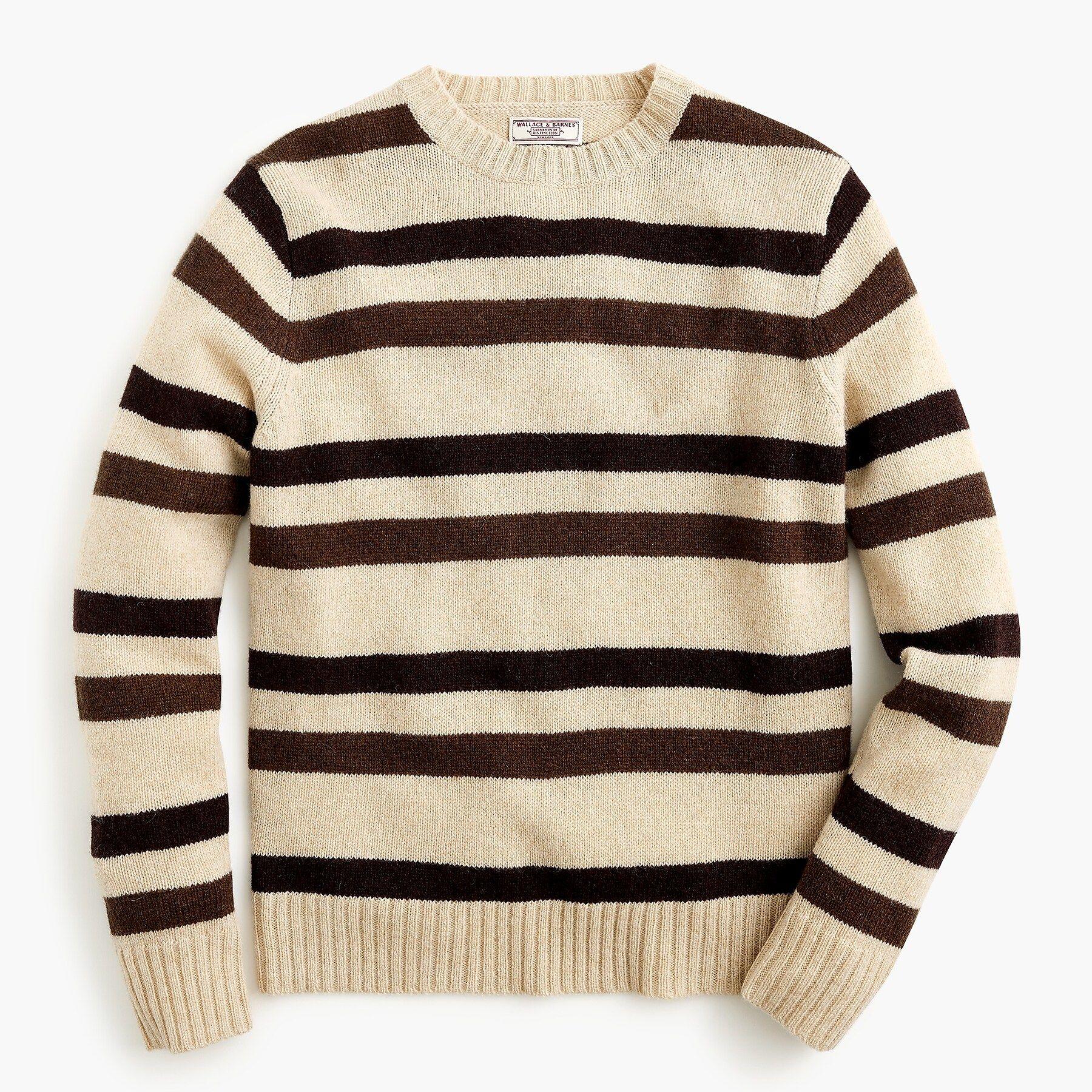 J.Crew: Wallace & Barnes Striped Crewneck Wool Sweater ...