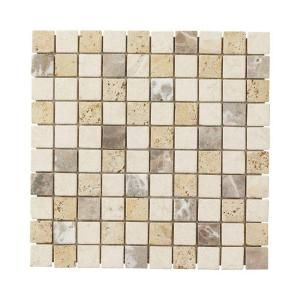 Jeffrey Court Giallo Sienna Medley 12 In X 8 Mm Travertine Marble Mosaic Floor Wall Tile