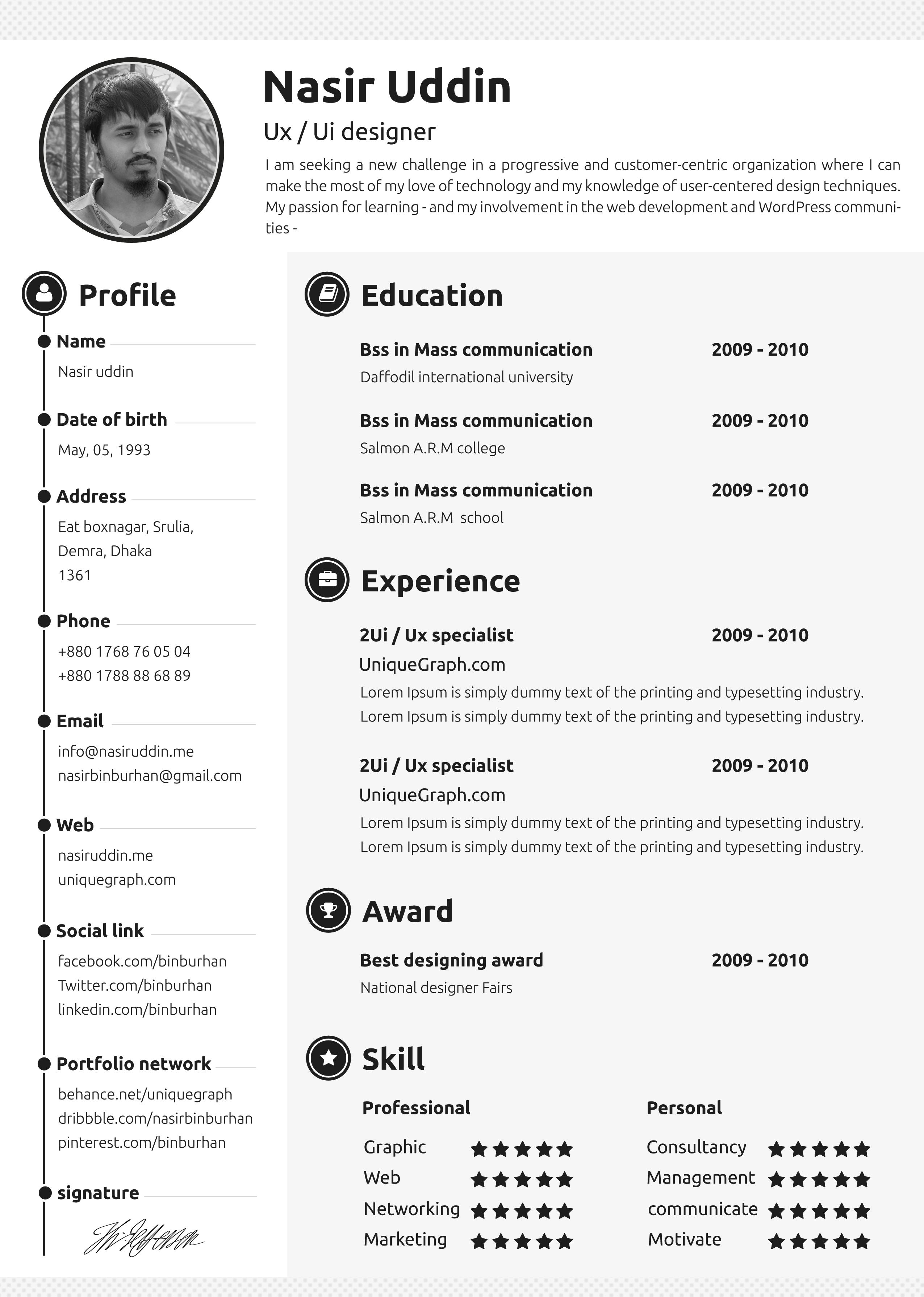 Free_resume_(2) Best free resume templates, Resume