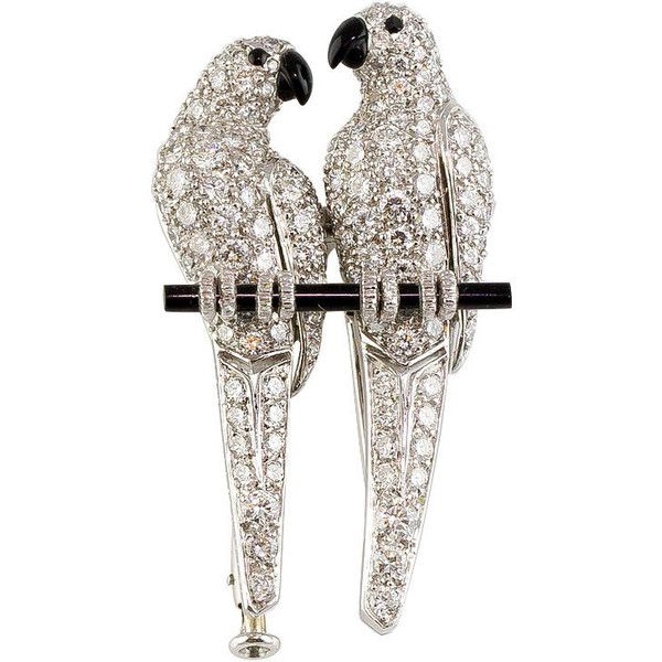 Vintage Brooches. Cartier does parrots!
