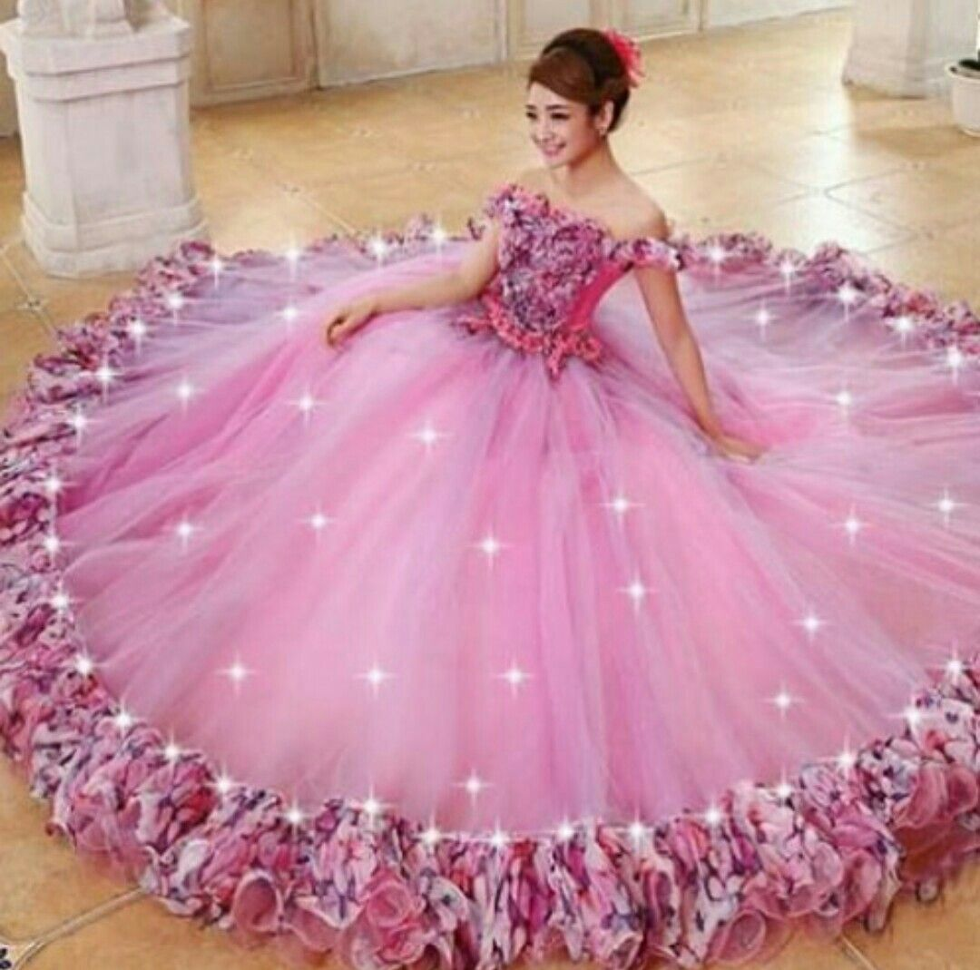 Pink wedding dress | mesmerizing dresses | Pinterest | Vestiditos ...