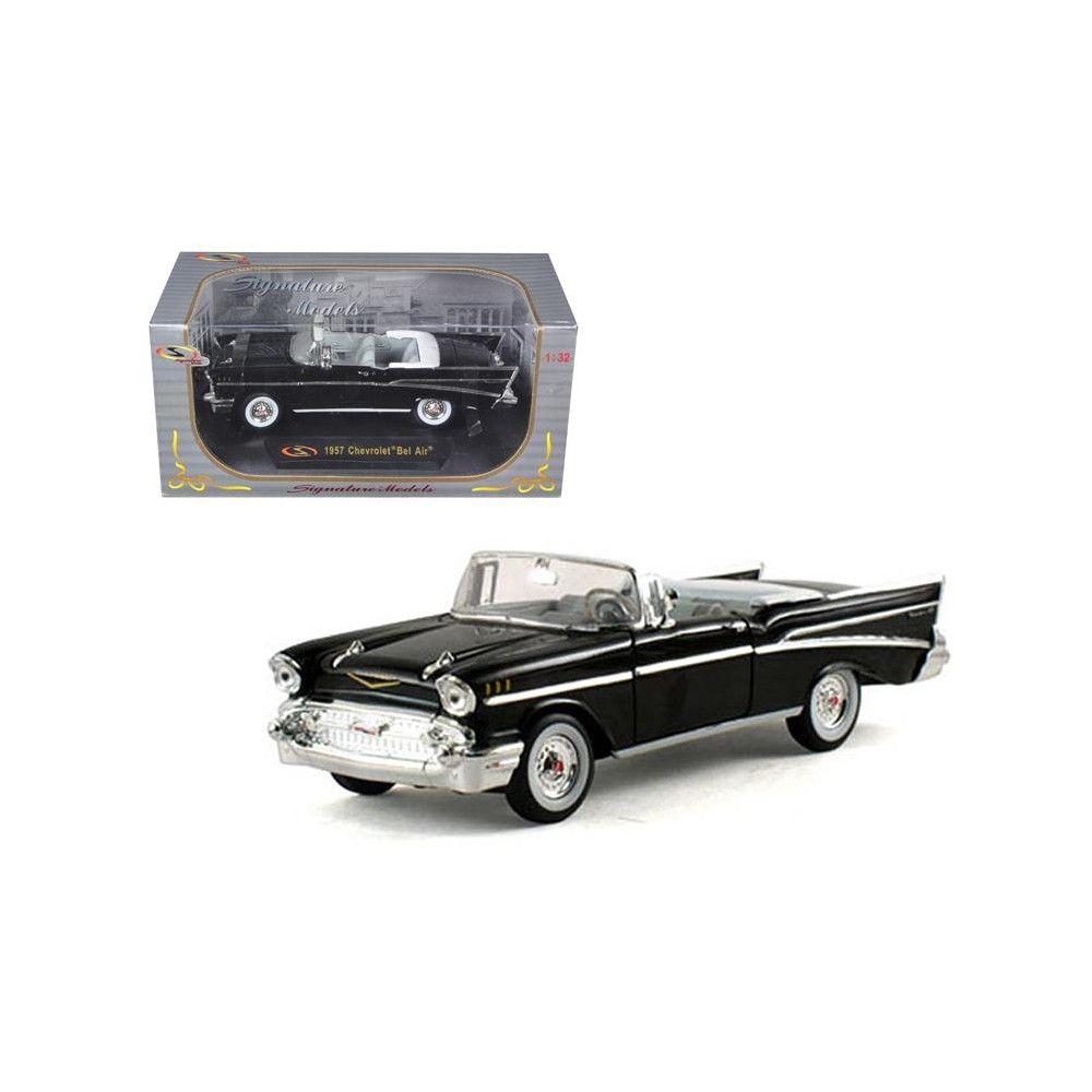 1957 Chevrolet Bel Air Convertible Black 1 32 Diecast Model Car By