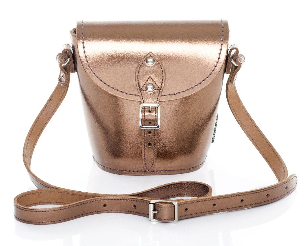 c58890045a86 Bronze Metallic Barrel Bag - Zaatchels | Lusting after right now ...