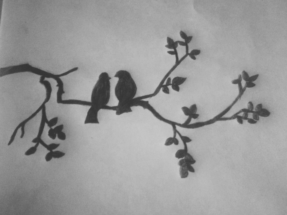 Love Birds Drawing Bird Pencil Drawing Love Birds Drawing Drawings