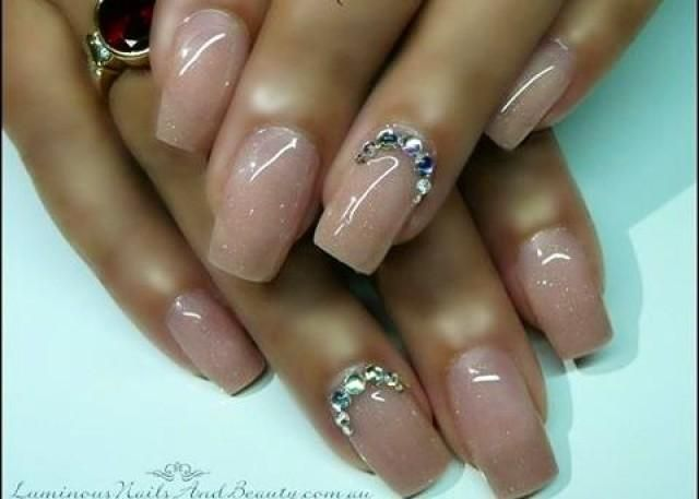 Natural color nails art... I really like this look - Natural Color Nails Art... I Really Like This Look Nails-Designs