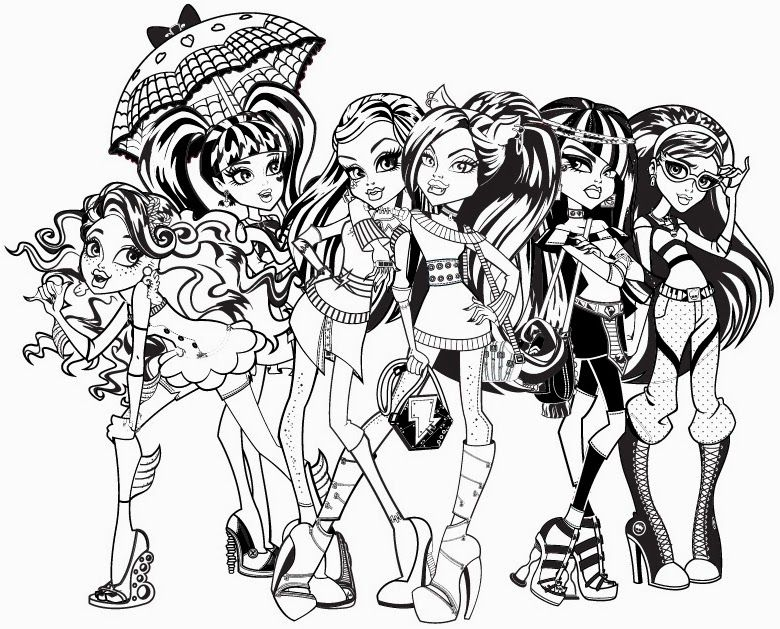 Monster High Coloring Pages 240 Monster High Colouring Sheets Free High Coloring Page