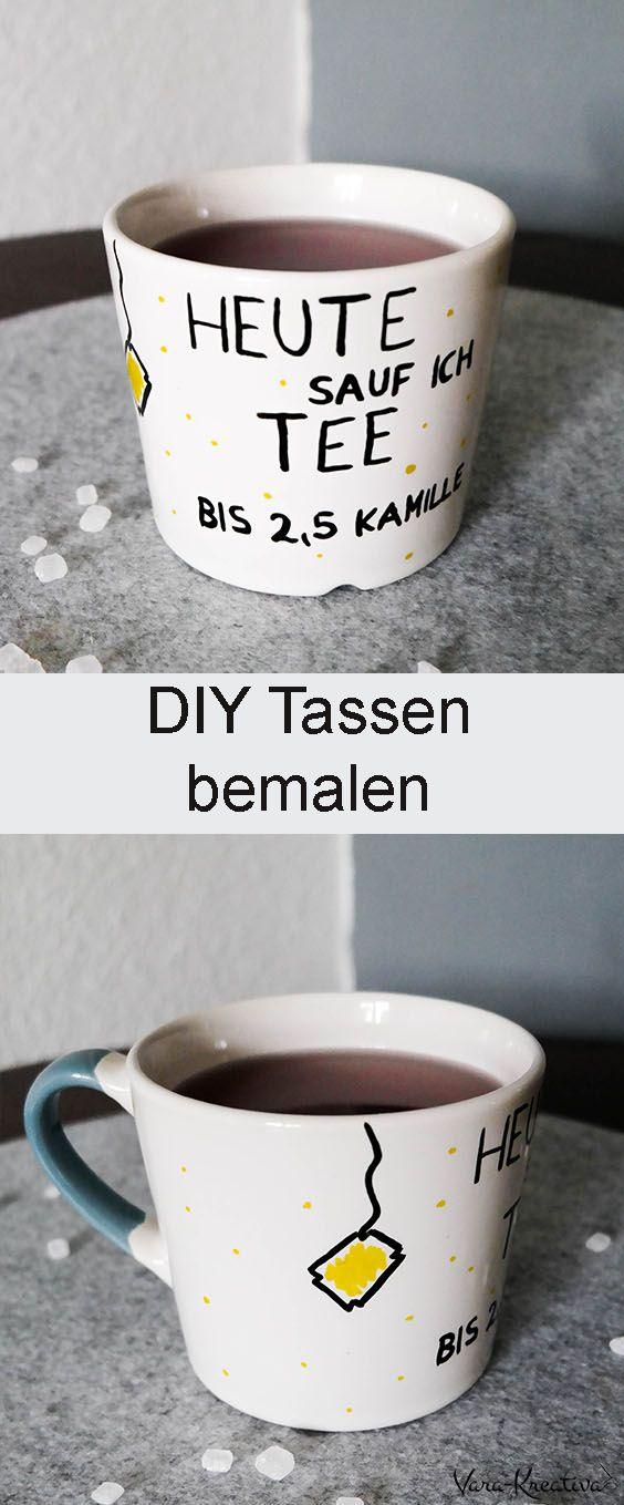 DIY individuelle Tassen bemalen zum Verschenken - | Geschenkideen ...