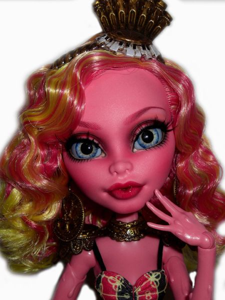 ☠ OOAK custom Monster High doll repaint Gooliope Jellington freak - copy monster high gooliope jellington coloring pages