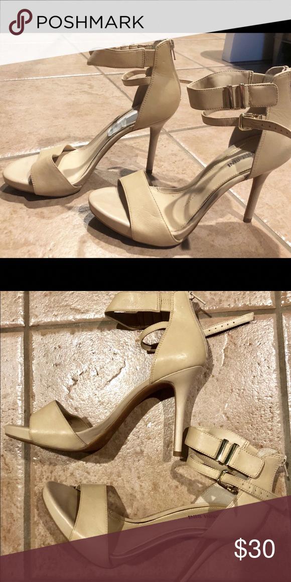 bef672311fdf7 Gianni Bini stilettos Tan stilettos with ankle straps and buckle. Tag still  on it