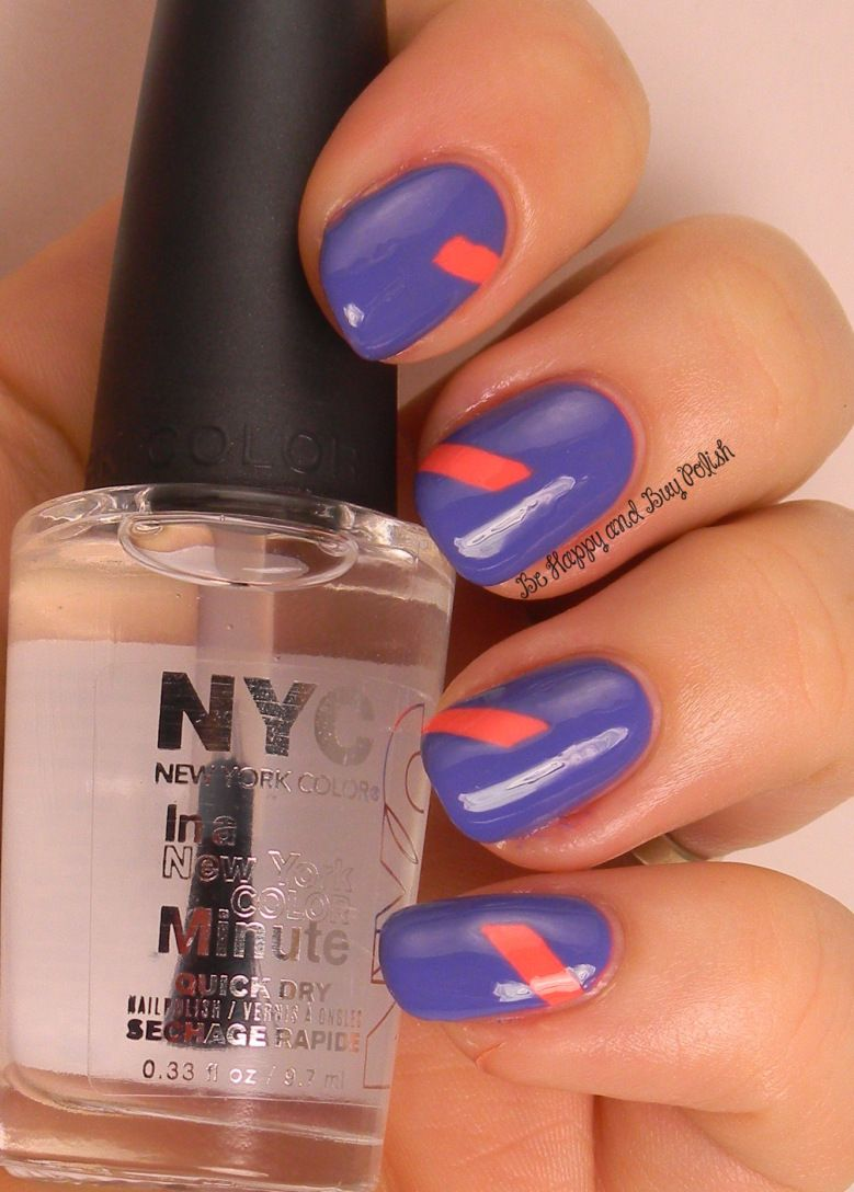 5 Simple Nail Art Manicures with NYC New York Color City Samba ...