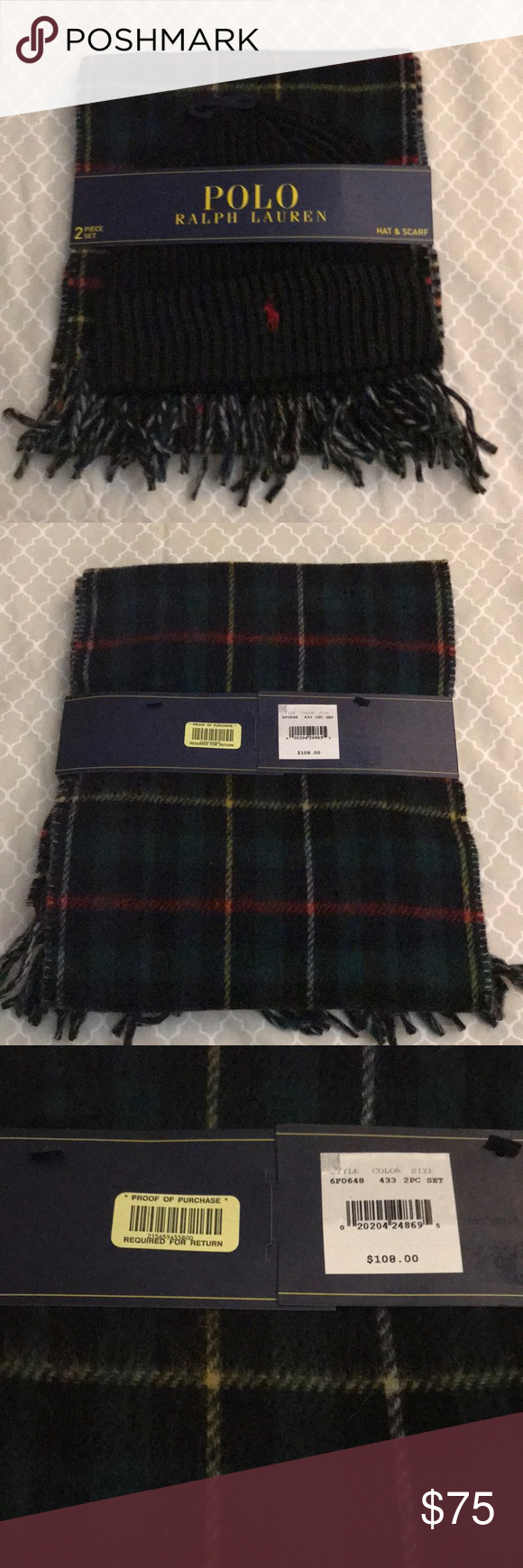 a602520fb1890 Polo Ralph Lauren Reversible Wool Scarf  amp  Hat NEW WITH TAGS!! Polo Ralph