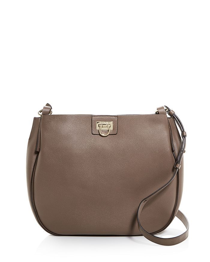 SALVATORE FERRAGAMO REVERSE LEATHER HOBO bags