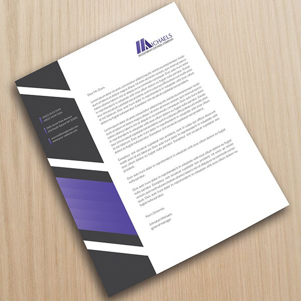 Corporate Letterhead on Behance Download here: http://graphicriver.net/item/corporate-letterhead-03/10108014