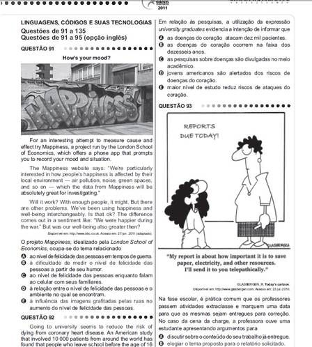 Provas De Ingles Ensino Medio Interpretacao De Texto Pesquisa
