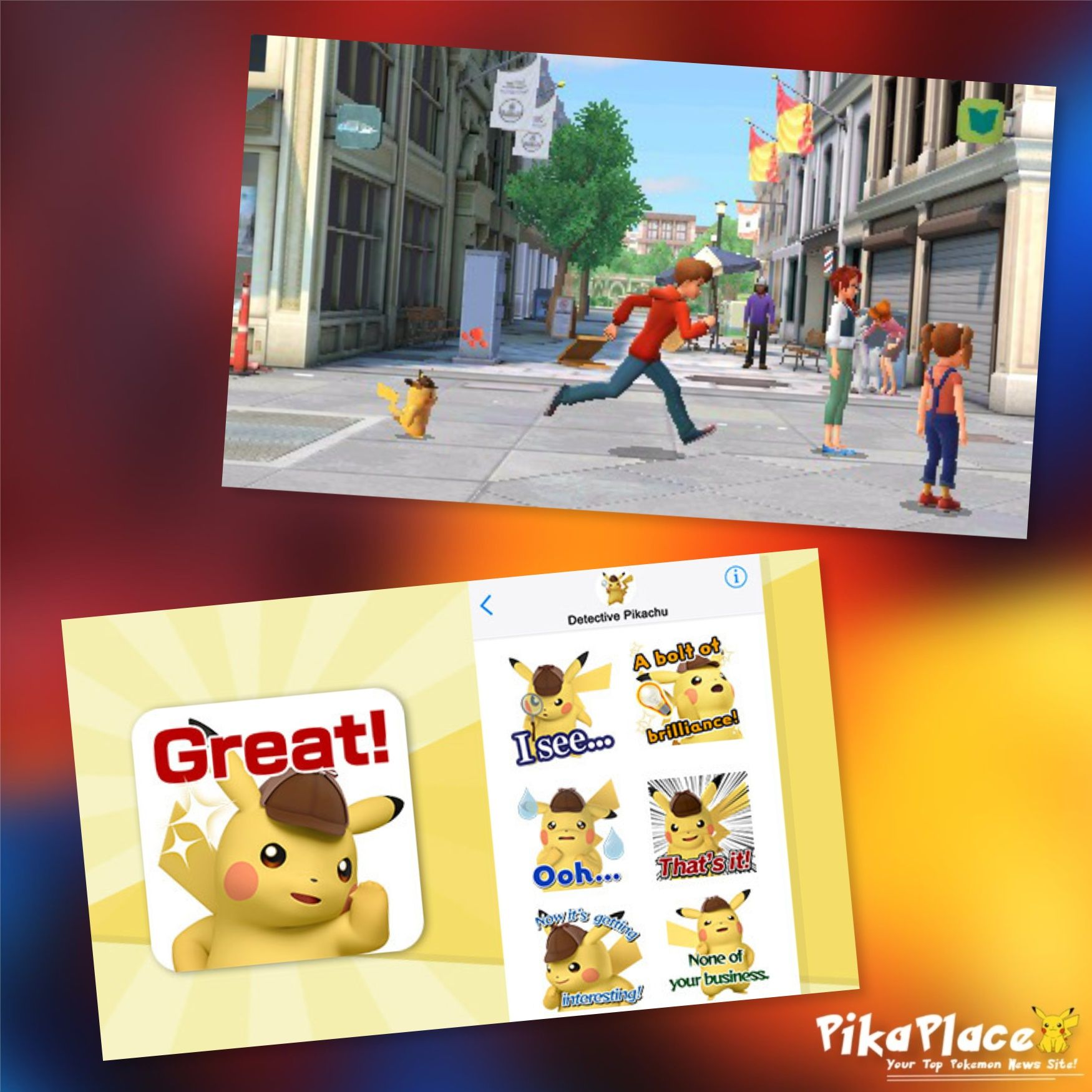 Detective Pikachu News Imessage Stickers Dual Screen Gameplay And