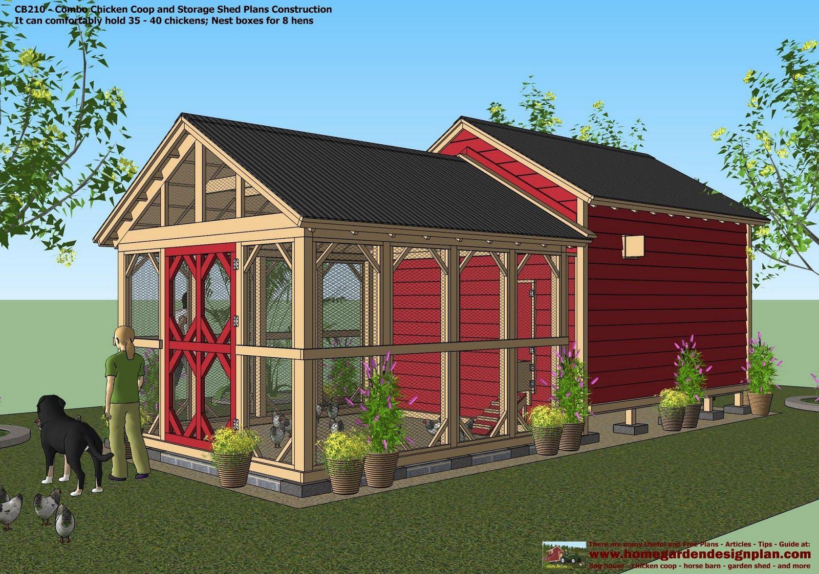 Storage Shed En Co Op Garden Sheds Plans Construction Coop Design