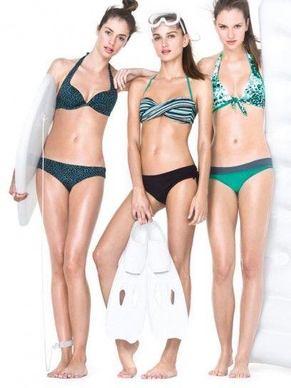 dalla collezione di costumi da bagno benetton e di beachwear per lestate 2013 bikini con stampa my closet costumi da bagno 2013 2015 pinterest