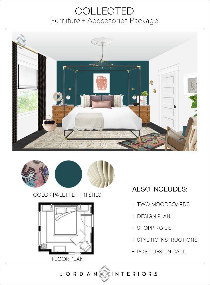 Jordan Interiors Modern Eclectic Virtual Interior Design