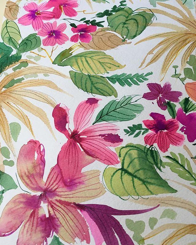 Tropical floral #quicksketch