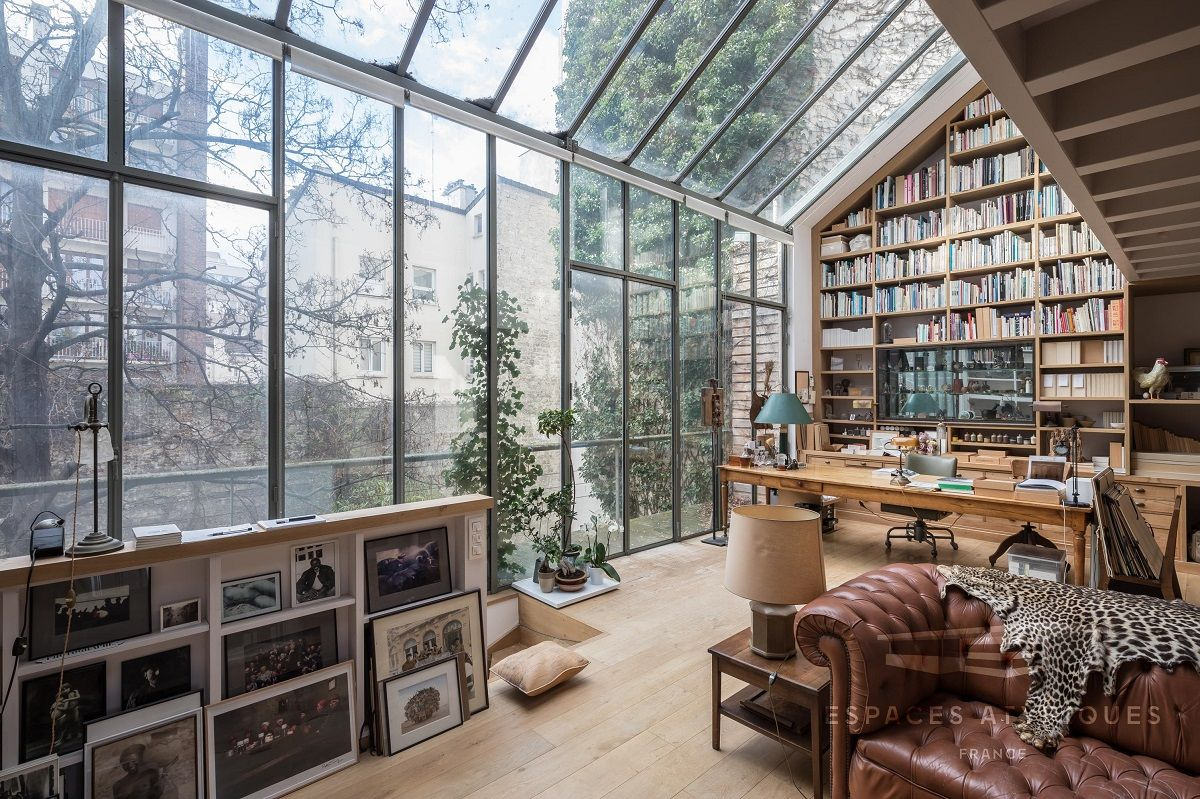 Spectacular Windows In A Serene Book-Filled Oasis in Paris  — THE NORDROOM #myfuturehouse