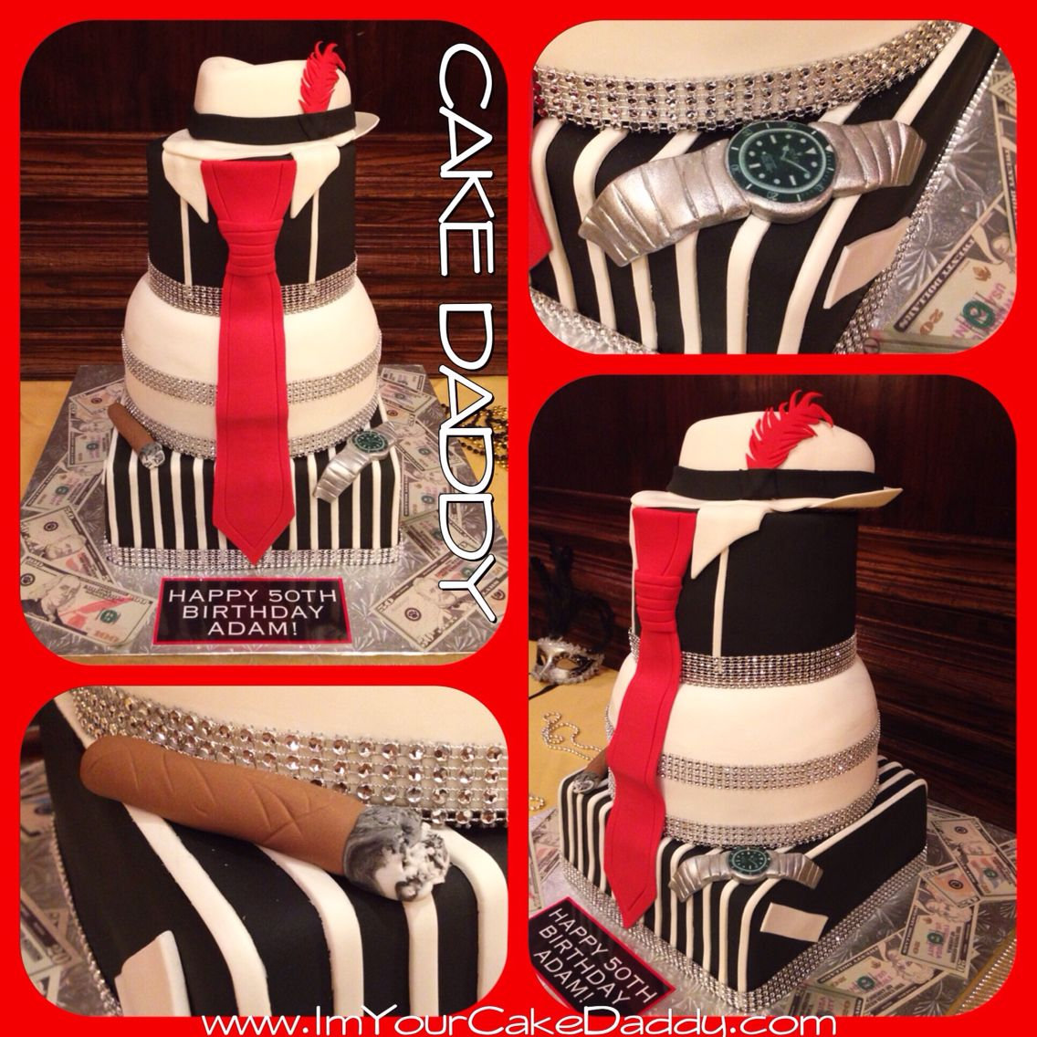 Harlem Nights Themed Birthday Cake Custom Cakes By Cake Daddy